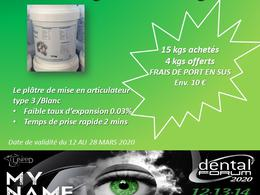PROMOS DENTAL FORUM 2020  SEAU DE PLÂTRE
